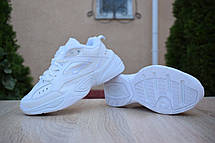 Кроссовки женские мужские Nike M2K Tekno белые (Top replic), фото 2