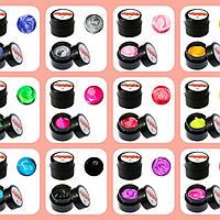 Гель-паста Bluesky 5D для дизайна ногтей, 8 мл.(разные цвета)