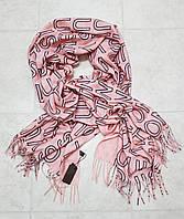 Женский шарф теплый реплика Louis Vuitton осень-зима байка утепленная размер 190×75 см цвет розовый, фото 1