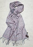 Женский шарф теплый реплика Louis Vuitton осень-зима байка утепленная размер 190×75 см цвет серый