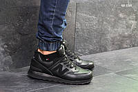 Кроссовки мужские New Balance  574 (черные) ЗИМА