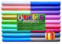 """Полимерная глина в наборе 18 цветов пастель """"Бебик""""+стеки"""