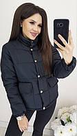 Куртка женская матовая плащевка на синтепоне  аж146, фото 1