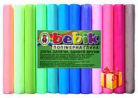 """Полимерная глина в наборе 12 цветов пастель.""""Бебик""""+стеки"""