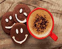 Картина по номерам Кофе с печеньем (40 х 50 см, без коробки)