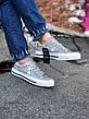 Кроссовки\Кеды женские Converse Рефлективные белые (Top replic), фото 2