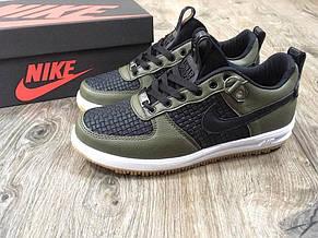 Кроссовки женские Nike Lunar Force низкие, зеленые-черные(Top replic), фото 2