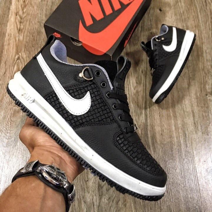 Кроссовки женские Nike Lunar Force черные-белые (Top replic)