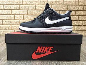 Кроссовки женские Nike Lunar Force черные-белые (Top replic), фото 2