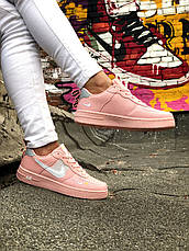 Кроссовки женские Nike Air Force розовые (Top replic), фото 3