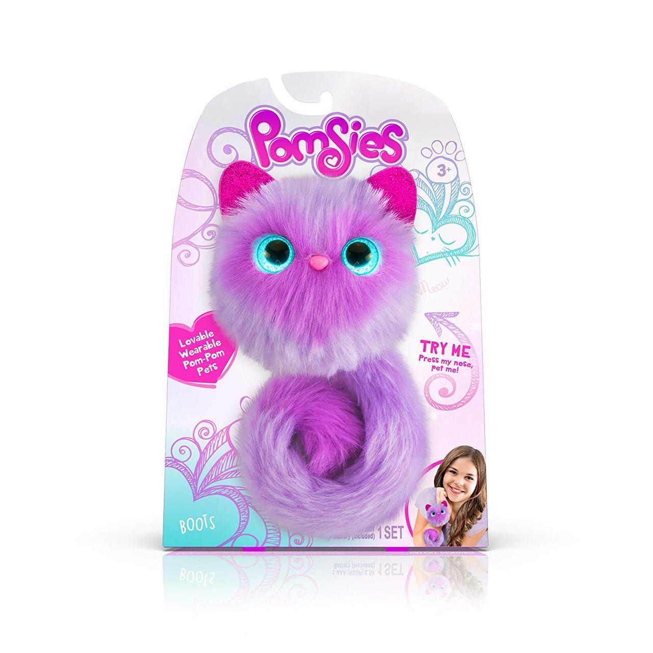 Интерактивная игрушка кошечка Виола Помсис Pomsies Boots фиолетовая, фото 1