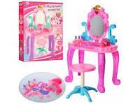 Детский Туалетный столик 661-39А (муз.,свет.,стул,фен, аксессуары) размер 44-23-74 см