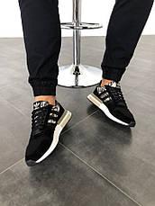 Кроссовки женские Adidas ZX 500 RM черные-камуфляж (Top replic), фото 3