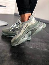 Кроссовки женские Balenciaga Triple-S серые Sneaker (Top replic), фото 2