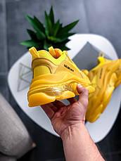 Кроссовки женские Balenciaga Triple-S Clear Sole Sneaker-желтые (Top replic), фото 3