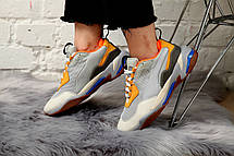 Кроссовки женские Puma Select Thunder Spectra серые-оранжевые (Top replic), фото 2