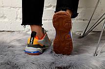 Кроссовки женские Puma Select Thunder Spectra серые-оранжевые (Top replic), фото 3