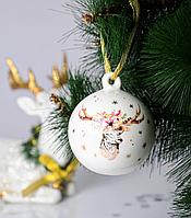 Набор из 2 шаров на елку Новогодний олень 8,5 см 924-456-2