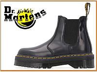 Демисезонные ботинки Dr Martens 2976 Quad Chelsea Black (Доктор Мартинс 2976, черные) без меха / женские