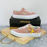 Кроссовки\кеды женские Converse x Tyler The Creator Golf le Fleur One Star OX розовые (Top replic)