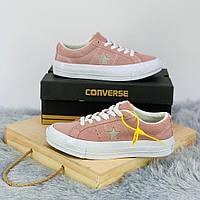 Кроссовки\кеды женские Converse x Tyler The Creator Golf le Fleur One Star OX розовые (Top replic)