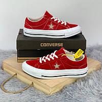 Кроссовки\кеды женские Converse x Tyler The Creator Golf le Fleur One Star OX красные (Top replic)