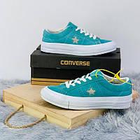 Кроссовки\кеды женские Converse x Tyler The Creator Golf le Fleur One Star OX синие-голубые (Top replic)