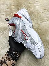 Кроссовки женские Nike M2K Tekno Рефлектив, серые (Top replic), фото 2