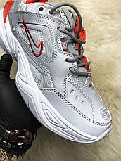 Кроссовки женские Nike M2K Tekno Рефлектив, серые (Top replic), фото 3