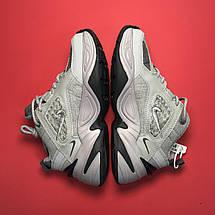 Кроссовки женские Nike M2K Tekno серые-белые (Top replic), фото 3