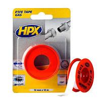 ФУМ-лента HPX для газовых и водопроводных фитингов - 12мм х 12м