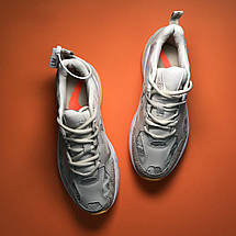 Кроссовки женские Nike M2K Tekno серые-оранжевые вставки (Top replic), фото 3