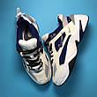 Кроссовки женские Nike M2K Tekno белые-синие (Top replic), фото 2