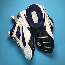 Кроссовки женские Nike M2K Tekno белые-синие (Top replic), фото 3