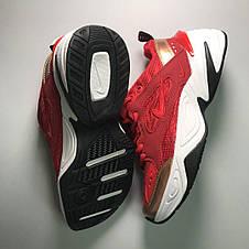Кроссовки женские Nike M2K Tekno красные-белые (Top replic), фото 3