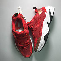 Кроссовки женские Nike M2K Tekno красные-белые (Top replic), фото 2