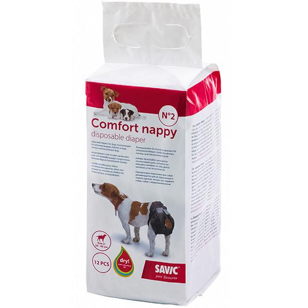Памперси для собак Savic Comfort Nappy 34-44 см 12 шт.