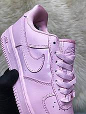 Кроссовки женские Nike Air Force Low розовые (Top replic), фото 2