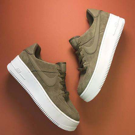 Кроссовки женские Nike Air Force Low Sage Platform Green (Top replic), фото 2