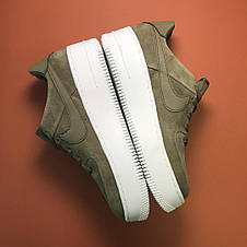 Кроссовки женские Nike Air Force Low Sage Platform Green (Top replic), фото 3