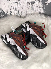 Кроссовки женские Nike M2K Tekno темно-коричневые (Top replic), фото 2