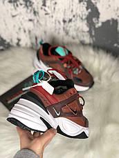 Кроссовки женские Nike M2K Tekno темно-коричневые (Top replic), фото 3