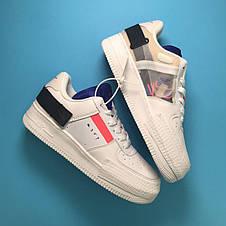 Кроссовки женские Nike Air Force 1 Orbit белые (Top replic), фото 3
