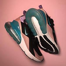 Кроссовки женские Nike Air Max 270 черные-розовые (Top replic), фото 2
