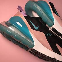 Кроссовки женские Nike Air Max 270 черные-розовые (Top replic), фото 3