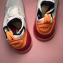 Кроссовки женские Nike Air Max 270 белые-красные-оранжевые (Top replic), фото 3