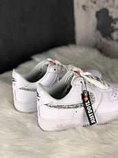 Кроссовки женские Nike Air Force 1 Just Do It белые (Top replic), фото 2