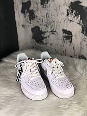 Кроссовки женские Nike Air Force 1 Just Do It белые (Top replic), фото 3