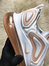 Кроссовки женские Nike Air Max 720 белые-оранжевые (Top replic), фото 3