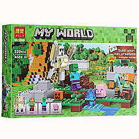 Конструктор Bela Майнкрафт 10468 Железный голем аналог Lego Minecraft 220 деталей